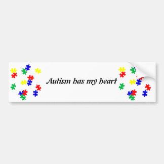 El autismo tiene mis pedazos del rompecabezas de l pegatina para auto