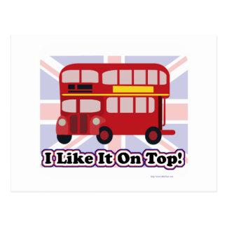 El autobús británico postales