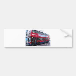 El autobús de dos pisos de Londres Pegatina Para Auto