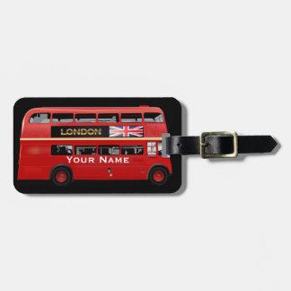 El autobús de Londres Etiquetas Para Equipaje