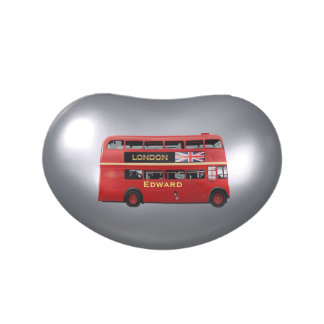 El autobús del rojo de Londres Jarrones De Caramelos