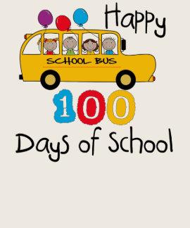 El autobús escolar celebra 100 días camisetas