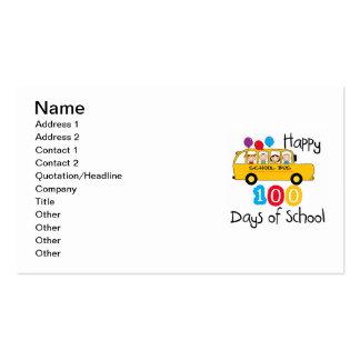 El autobús escolar celebra 100 días tarjetas de visita
