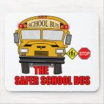 El autobús escolar más seguro alfombrillas de raton