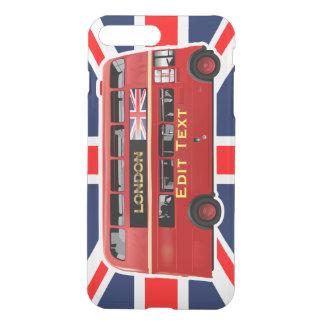 El autobús rojo de Londres del autobús de dos Funda Para iPhone 7 Plus