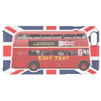 El autobús rojo de Londres del autobús de dos Funda Transparente Para iPhone 6 Plus