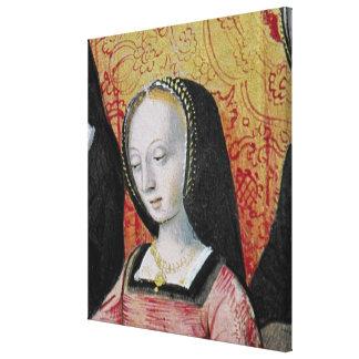 El autor que ofrece su libro a Anne de Bretaña Impresion En Lona