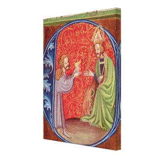 El autor que ofrece su libro impresión en lienzo estirada