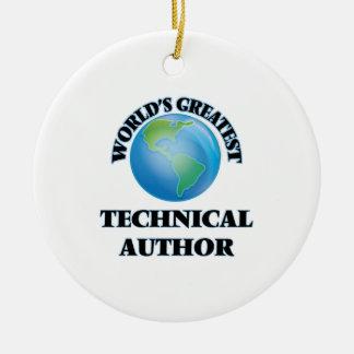 El autor técnico más grande del mundo adorno navideño redondo de cerámica