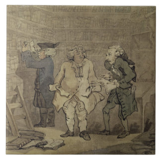 El autor y su editor, 1784 (lavado gris y azulejo ceramica