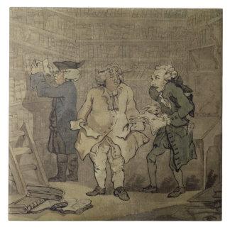 El autor y su editor, 1784 (lavado gris y azulejo cuadrado grande