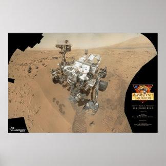 El autorretrato de la curiosidad en Marte Póster