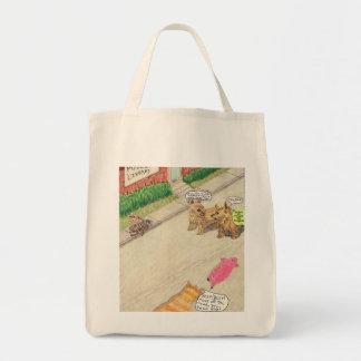 El autostopista bolsa tela para la compra