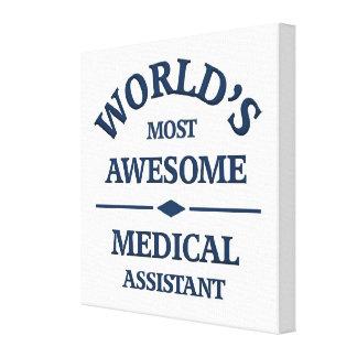 El auxiliar médico más impresionante del mundo impresión de lienzo