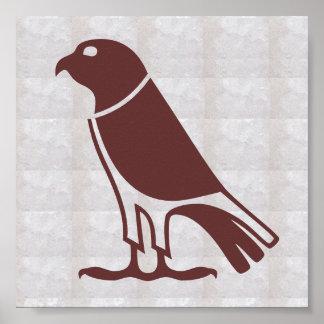 El AVE RAPAZ gráfica del deco HAWKS, EAGLES, Póster