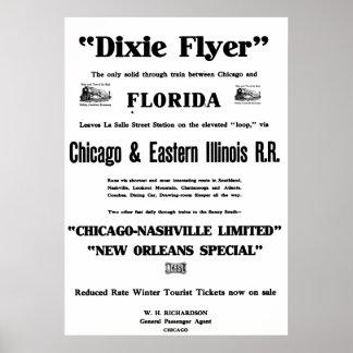 El aviador de Dixie era Train primero Service de l Impresiones