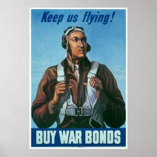 ¡El aviador negro nos guarda vuelo Poster