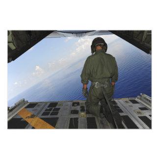 El aviador observa las aguas del golfo de Mexic Fotografía