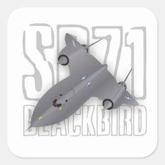 El avión de espía supersónico más rápido Mirlo SR Pegatinas Cuadradases Personalizadas