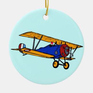 El avión de Santa Ornamento De Navidad