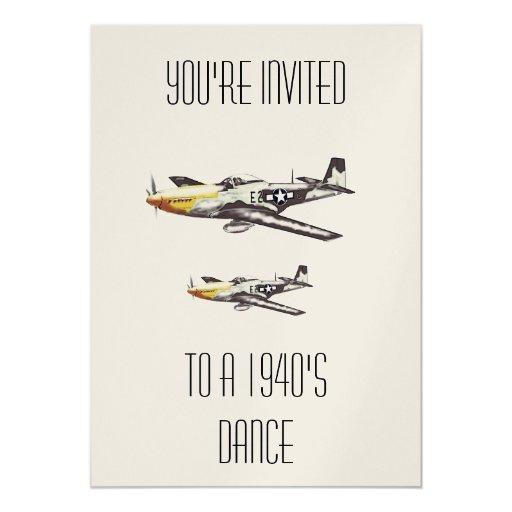 """El avión invita invitación 5"""" x 7"""""""