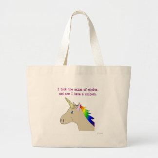 ¡El axioma de la opción hace unicornios! Bolsa Tela Grande