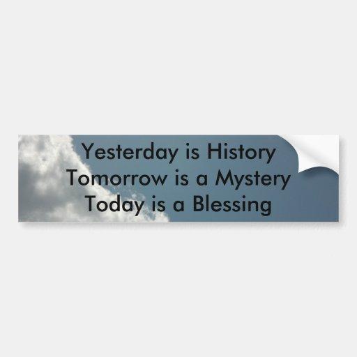 El ayer es historia etiqueta de parachoque