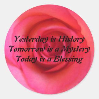 El ayer es historia pegatinas redondas