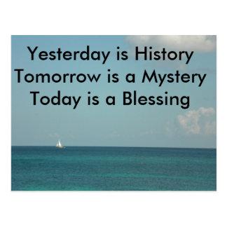 El ayer es historia postales