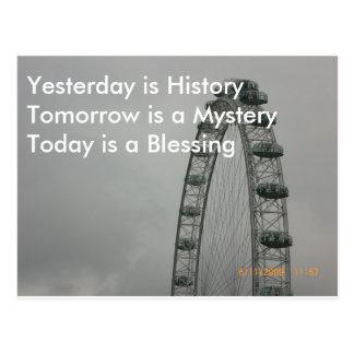 El ayer es historia postal