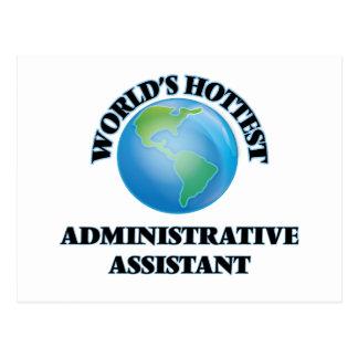 El ayudante administrativo más caliente del mundo tarjetas postales