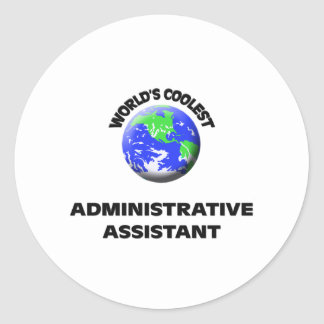 El ayudante administrativo más fresco del mundo pegatinas