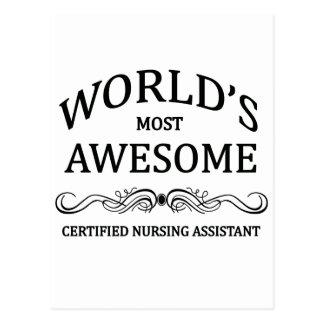 El ayudante de cuidado certificado más tarjetas postales