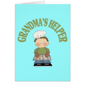 El ayudante de la abuela tarjeta de felicitación