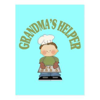 El ayudante de la abuela tarjeta postal