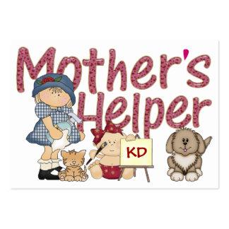 El ayudante de la madre tarjetas de visita grandes