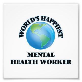 El ayudante de la sanidad mental más feliz del cojinete
