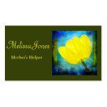 El ayudante de las madres/canguro/negocio del queh tarjeta de visita