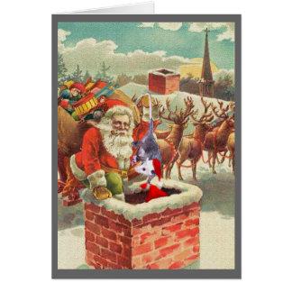 El ayudante de Santa es un oposum Felicitacion