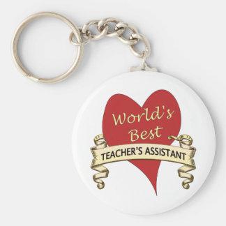 El ayudante del mejor profesor del mundo llavero redondo tipo pin