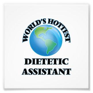 El ayudante dietético más caliente del mundo impresión fotográfica