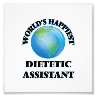El ayudante dietético más feliz del mundo impresión fotográfica
