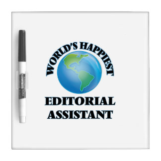 El ayudante editorial más feliz del mundo pizarra