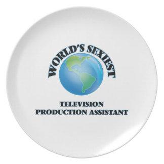 El ayudante más atractivo de la producción de la plato