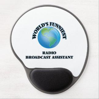 El ayudante más divertido de la emisión de radio alfombrillas con gel