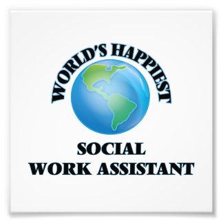 El ayudante más feliz del trabajo social del mundo cojinete