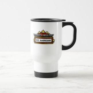 El ayudante más grande de la hora del mundo taza de café