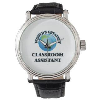 El ayudante más grande de la sala de clase del relojes de mano