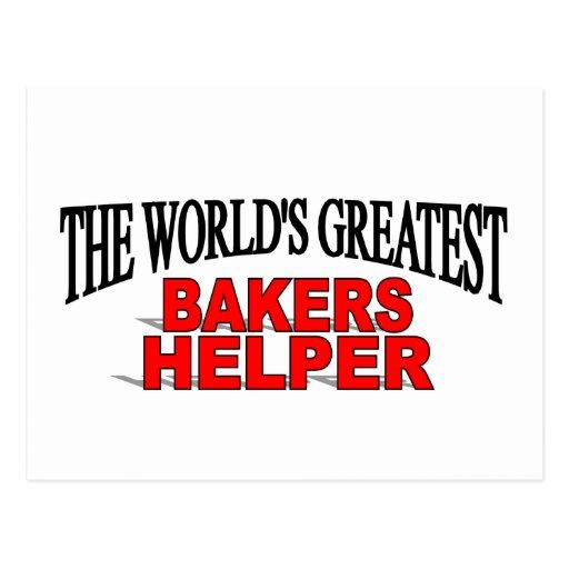 El ayudante más grande de los panaderos del mundo tarjetas postales