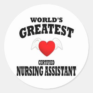 El ayudante más grande del oficio de enfermera del etiquetas